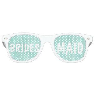 Modern aqua green watercolor Bridesmaid