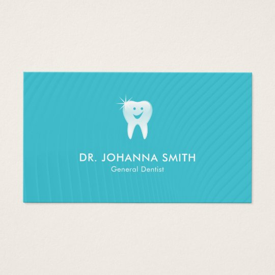 Modern Aqua Shiny Smiling Tooth Dental Appointment Business