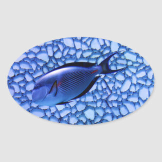 Modern Aquarium Oval Sticker