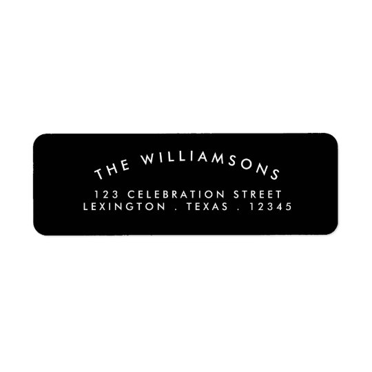 Modern Arch Address Label Black | White