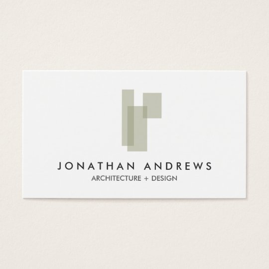 MODERN ARCHITECT CONSTRUCTION LOGO Business Card