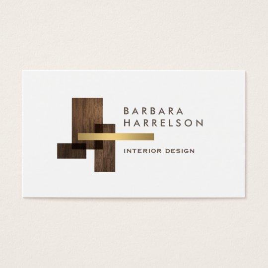 Modern Architectural Interior Design Logo Business Card