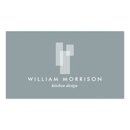 Modern Architectural Logo on Gray Business Cards
