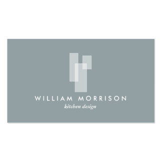Modern Architectural Logo on Gray Pack Of Standard Business Cards