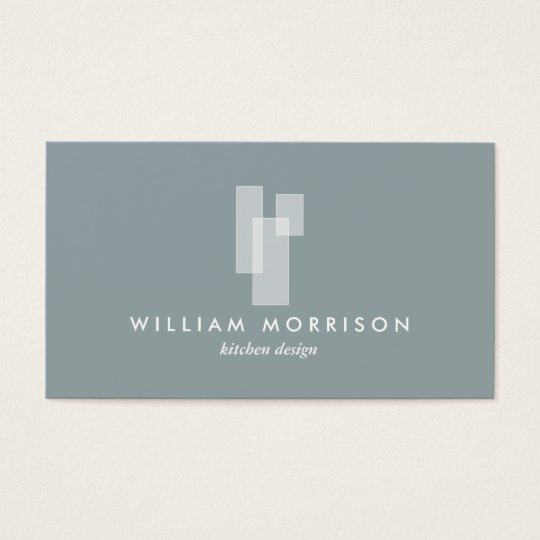 Modern Architectural Logo on Grey Business Card