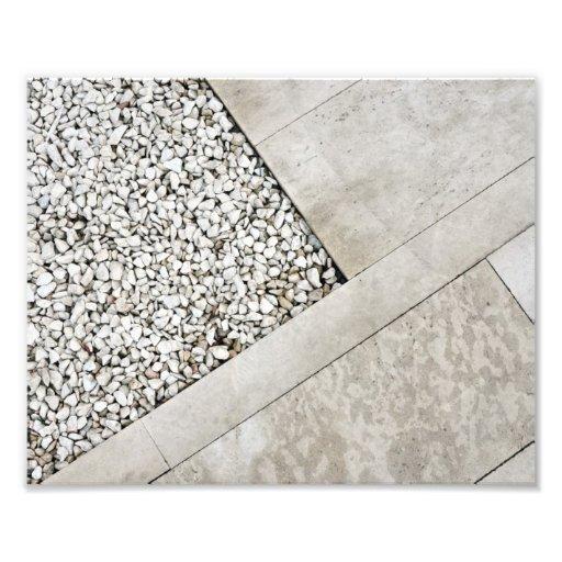 modern  architecture minimal stone pavement rock photographic print
