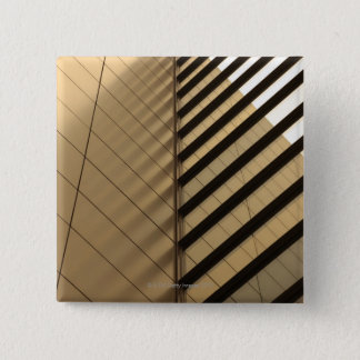 Modern architecture, yellow toned 15 cm square badge
