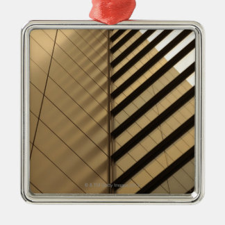 Modern architecture, yellow toned christmas ornament
