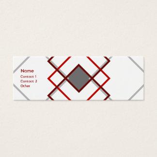 Modern  Argyle Mini Business Card