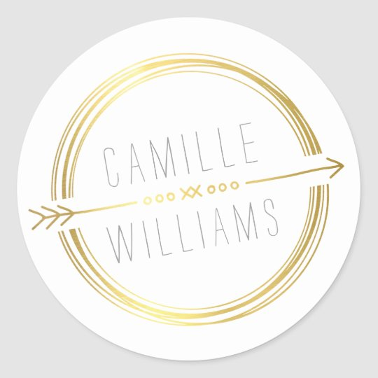 MODERN ARROW LOGO gold foil rustic hand drawn