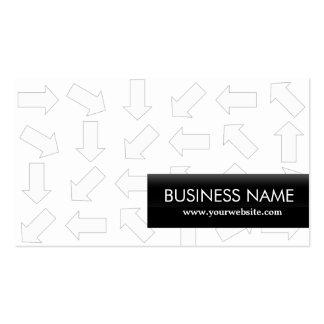 Modern Arrow Patterns Funeral Business Card