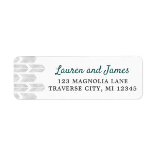 Modern Arrows Chevron Simple Grey Teal Address