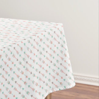 Modern Arrows Pillow in mint and coral Tablecloth
