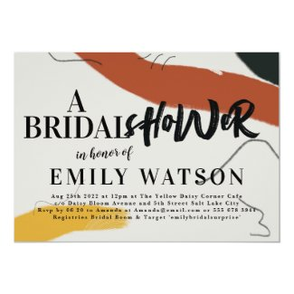 Modern Art Abstract Bridal Shower Invitation