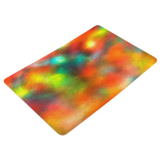 Modern Art Abstract Colors Floor Mat