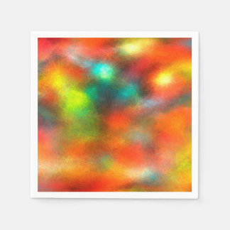 Modern Art Abstract Colors Paper Napkin