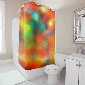 Modern Art Abstract Colors Shower Curtain