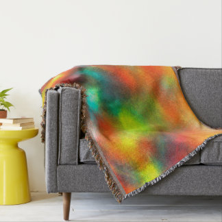Modern Art Abstract Colors Throw Blanket