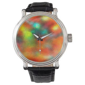 Modern Art Abstract Colors Wristwatch
