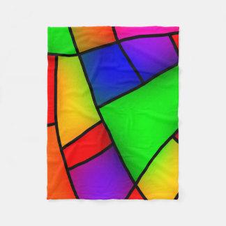 Modern Art, Artistic Colorful Mosaic Fleece Blanket