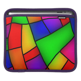Modern Art, Artistic Colorful Mosaic iPad Sleeve