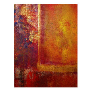 Modern Art Color Fields Orange Red Yellow Gold Postcard