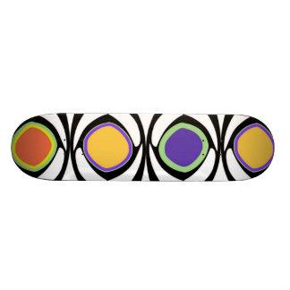 Modern Art Colorful Circle Dot Pattern Lattice Custom Skate Board