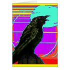 Modern Art Crow by Sharles Card