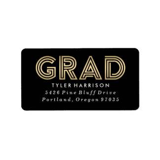 Modern Art Deco Grad | Graduation Address Labels