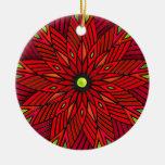 Modern Art Deco Poinsettia - Round (Personalised)