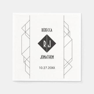 Modern Art Deco Reception Napkins Paper Napkins