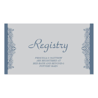 Modern Art Deco Registry Card Pack Of Standard Business Cards
