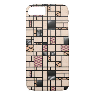 Modern Art Fishnet & Leather Pattern iPhone Case