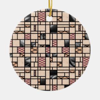 Modern Art Fishnet Skin & Leather Pattern Ornament