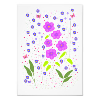 Modern Art Flowers, Naive style Photo Art