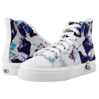Modern Art Grapes Unisex High Tops Printed Shoes