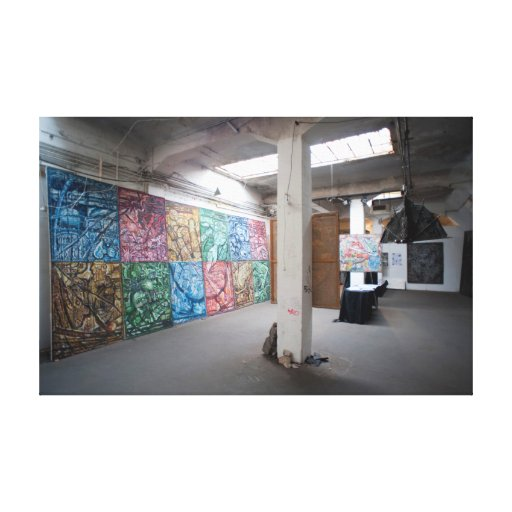 Modern art in Kunsthaus Tacheles Stretched Canvas Print