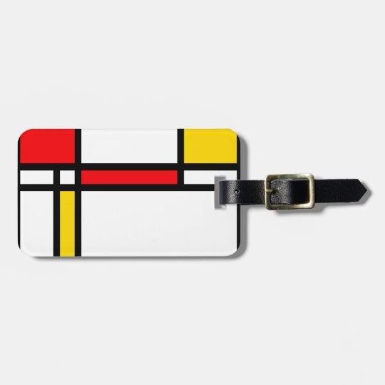 Modern Art Luggage Tag