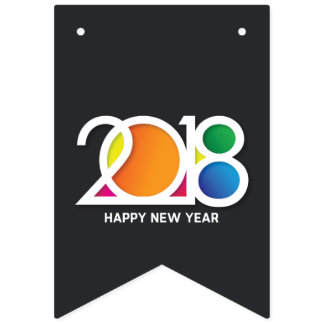 Modern  Art New Year's Party Celebration. Bunting