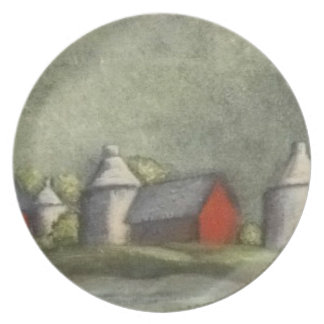 Modern Art Plate - Grain Silos