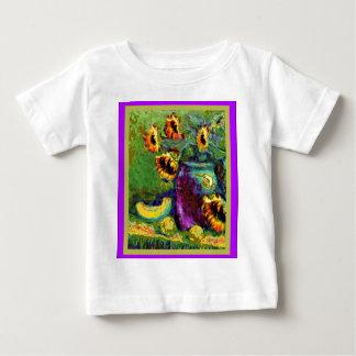 Modern Art Purple Vase Sunflower gifts bySharles Baby T-Shirt