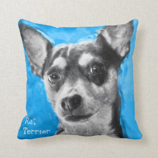 Modern Art Rat Terrier Cushion