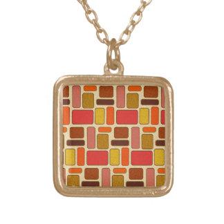 Modern Art Square Pattern Necklace