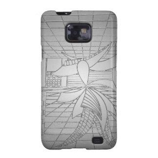 Modern Art Steel Grey Gunmetal Fashionista Fashion Samsung Galaxy S2 Case