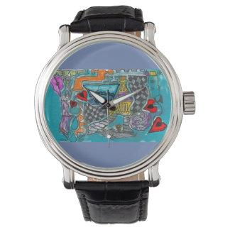 Modern art watch face