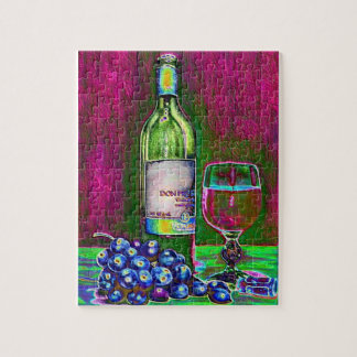 Modern Art Wine and Grapes Puzzle