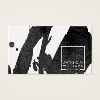 Modern Artist Abstract Black Brushstrokes Designer