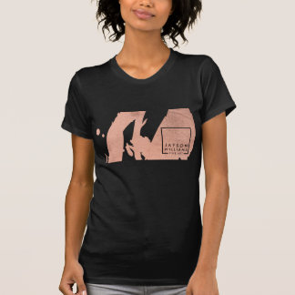 Modern Artist Abstract Rose Gold/Black Brushstroke T-Shirt