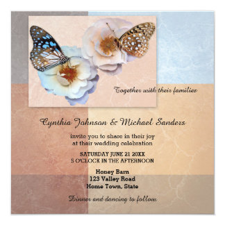 Modern Artistic Butterfly Wedding Invitation