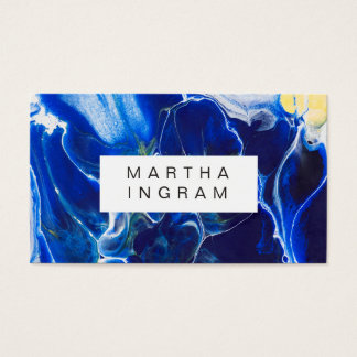 Modern Artistic Creative Design Blue Abstract Business Card